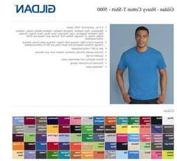 100 Gildan T-SHIRTS BLANK BULK LOTS Colors or 100 White Plai