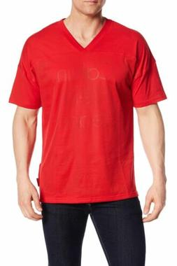 $115 Calvin Klein Men'S Red Logo Graphic Athletic T-Shirt V-