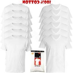 6-Pack V/Crew-Neck For Men's 100% Cotton Tagless T-Shirt Und