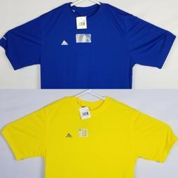 2 Adidas Climalite Large Mens T-Shirts Blue and Yellow Short