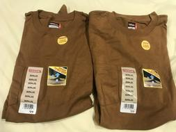 2 DICKIES HEAVY WEIGHT POCKET T SHIRTS BROWN SIZE 2XLARGE NE