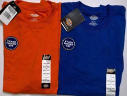 2 DICKIES HEAVY WEIGHT POCKET T SHIRTS One BLUE And One Oran