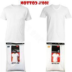 3-12Pack Men's V/Crew Neck 100% Cotton Tagless T-Shirt Under