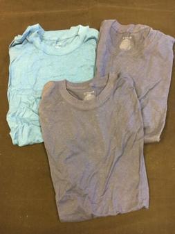 3 Pack New Champion Crew T Shirts Tagless Size Small Blue/da