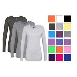 Adar 3 Pack Women's Comfort Long Sleeve T-Shirt/Underscrub