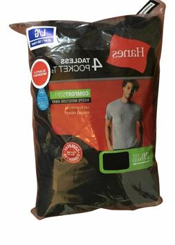 4 Pack Hanes Mens Pocket t Shirt sizes S - 3XL choose your S