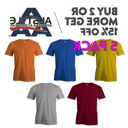 5 PACK AAA ALSTYLE 1301 MENS PLAIN T SHIRT CASUAL SHORT SLEE