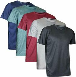 5 Pack: Men's Dry-Fit Moisture Wicking Active Athletic Per