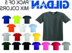 GILDAN Short Sleeve Mix Colors T Shirts Plain T Shirts Tee