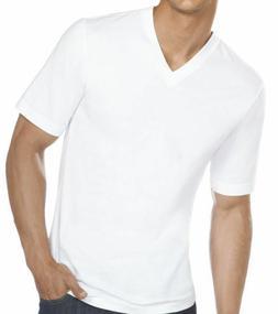 6 Pcs Men 100% Cotton Tag-less V-Neck T-Shirts Undershirts T