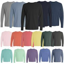 Comfort Colors 6014 3 PACK of Garment Dyed Long Sleeve Crew