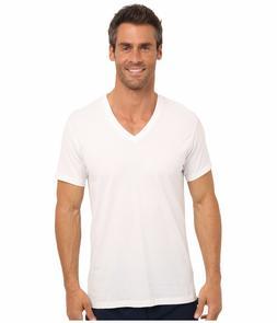 $75 Calvin Klein Men White V Neck Undershirts Classic Top Te