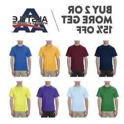 AAA ALSTYLE 1301 MENS PLAIN T SHIRT CASUAL SHORT SLEEVE SHIR