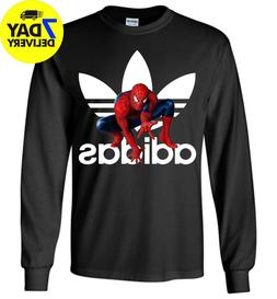 Adida Spiderman Long Sleeve T-Shirt All Size Funny for Men W