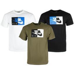 Nike Air Men's Athletic Short Sleeve Color Blocked Logo Gym