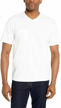 Amazon Essentials Men's 5-Pack Loose-fit V-Neck Pocket T-Shi