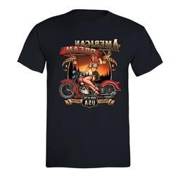 American Dream T-shirt USA Motorcycle Garage Route 66 Milwau