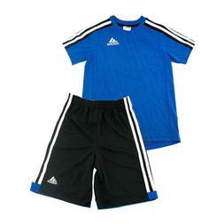 adidas Athletic Blue 2-Piece Set Shirt Shorts for Boys