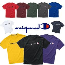 Authentic Champion Men's Jersey Script Logo Short Sleeves T-