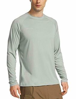 Baleaf Men's UPF 50+ Outdoor Running Long Sleeve T-Shirt Gra