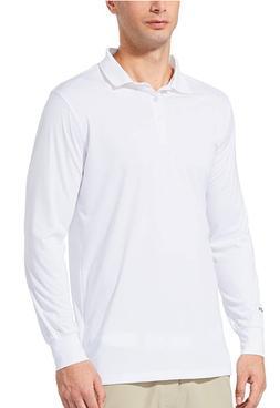 BALEAF Men's UPF 50+ Sun Protection Golf Polo Shirt Long Sle