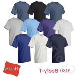beefy t cotton plain crew neck short