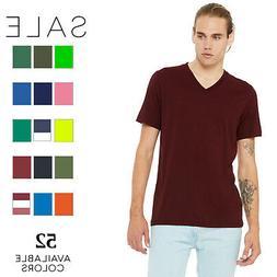 Bella Canvas Men's Jersey Short-Sleeve V-Neck T-Shirt 3005 X