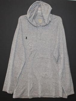 Polo Ralph Lauren Big & Tall Mens Gray Heather Hoodie L/S T-