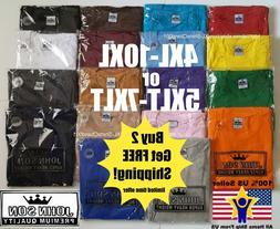 Big and Tall T-Shirts 5XLT 6XLT 7XLT John Son Super Heavy We