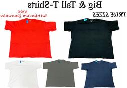 Big and Tall T-Shirts - Casual TRUE SIZE Comfort Tees - Size