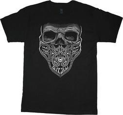 Big and Tall t-shirts for men Bandana Skull decal design tee