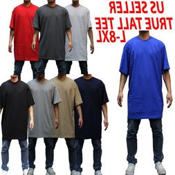 Big and tall tee S/S T-shirts Crew Neck Men Heavy Weight Pla