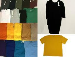 tshirt BIG TALL Shirts Plain Solid Crew Neck Shirts Short Sl