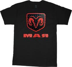 Big men's t-shirt Dodge Ram Hemi decal tee plus size tall 4X