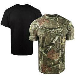 Mossy Oak & Black - Set of 2 T-Shirts - Cotton Moisture Wick