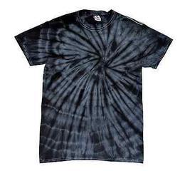 Black Tie Dye T-Shirts Adult S M L XL 2XL 3XL 4XL 5XL Cotton