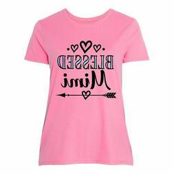 Inktastic Blessed Mimi Gift Women's Plus Size T-Shirt Grandm