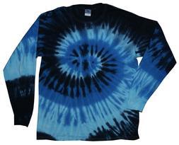 Blue Ocean Long Sleeve Tie Dye T-Shirt Adult S - 3X 100% Pre