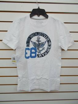 Boys Nautica $26.50 White T-Shirt Mariner Div. 83 Size 10/12