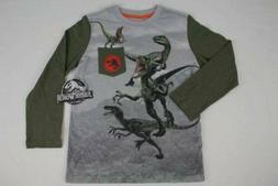 Boys Jurassic World T-Shirt Large Size 10 - 12 Top Long Slee