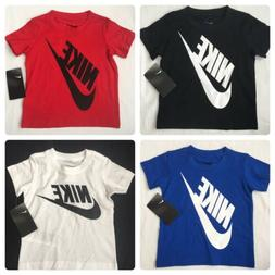 Nike Boys Short Sleeve T Shirt, 2T, 3T, 4T, White, Red, Blac