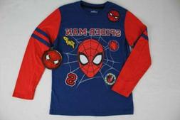 Boys Spider- Man T Shirt Size 10 - 12 Large Superhero Marvel