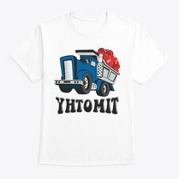 Boys Valentines Truck For Hanes Tagless Tee T-Shirt