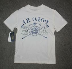 Polo Ralph Lauren Boys White T-Shirt - Size S  - NWT