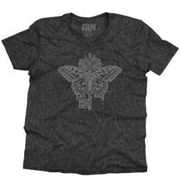 Butterfly Key Symbol Spiritual Graphic Gift V-Neck T-Shirts