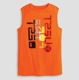 c9 Champion Boys Sleeveless Graphic Orange Tech T-shirt QUES