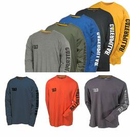 Caterpillar T shirt Men CAT Long Sleeve Graphic Logo Tee T-