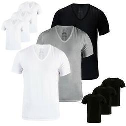 Calvin Klein Men's 3 Pack Slim Fit 100% Cotton V-Neck or Cre