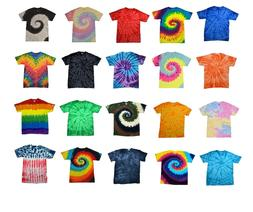Colorful Tie Dye T-Shirts  Kids & Adult Hand dyed Cotton Col