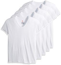 Hanes Men's 5-Pack ComfortBlend V-Neck T-Shirt with FreshIQ,